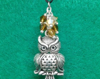 Gold glass owl christmas ornament
