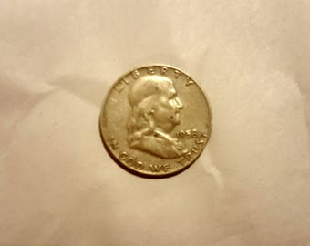 1958 Ben Franklin Silver Half Dollar