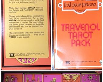 Travenol Tarot Pack, 1970s Vintage Psychedelic Tarot Deck, Tarot Major Arcana Large Format Cards