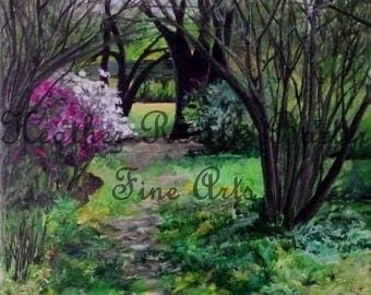 Print of University Gardens in Summer: Orono Maine