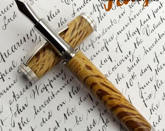 Special Reserve Holm Oak wood SR Capel Stainless Steel Fountain Pen (1074)