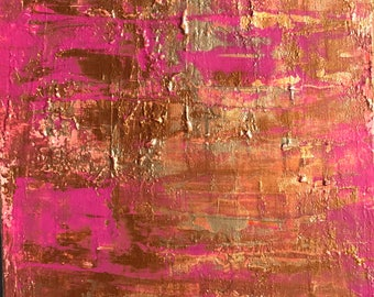"""Abstract Painting on 12""""x9"""" Canvas"""