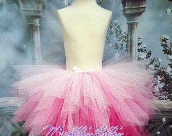 Pink sparkly princess tutu skirt