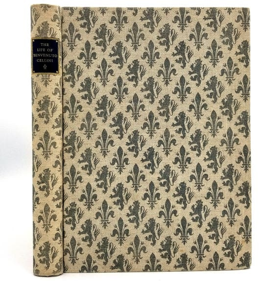 Life of Benvenuto Cellini Written by Himself illustrated by Fritz Kredel 1937 Signed Hardcover HC Limited Editions Club Verona