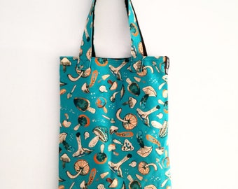 Cotton shopping bag with mushrooms