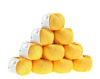10 x 50 g knitting wool cotton twinkle, #182 yellow