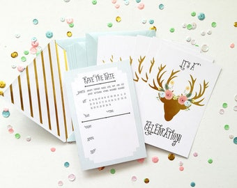 Fancy Pants Design Adorned Deer Invitations