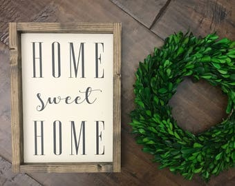XS Home Sweet Home Sign   Wood Sign   Farmhouse Style   Farmhouse Decor   Farmhouse Sign   Home Decor   Lets Be Homebodies   Fixer Upper