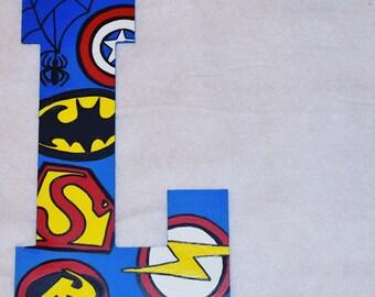 Super Hero Jumbo Letter