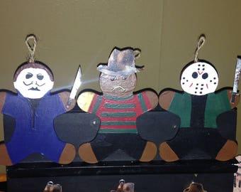 Gingerdead Men HorrOrnaments (Jason Voorhees, Freddy Krueger & Michael Myers)