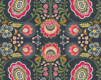 Khokhloma Gloom from Indie Folk collection by Art Gallery Fabrics 112cm (w) x 25cm