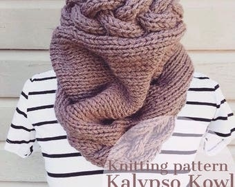 Kalypso Kowl/Knit Cowl/Knit Scarf/Infinity Scarf/Chunky Knit Cowl/Knit Cowl Pattern