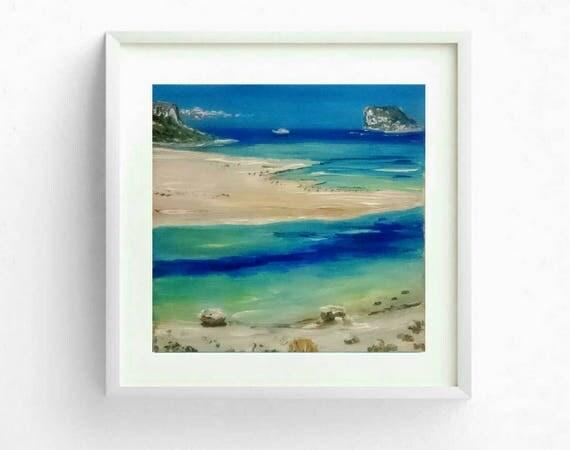 Gemälde - Strand von Balos