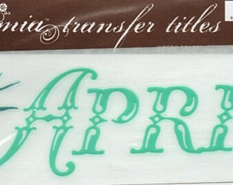 April Title Rub On Transfer Embellishments Cardmaking Crafts My Mind's Eye Bohemia