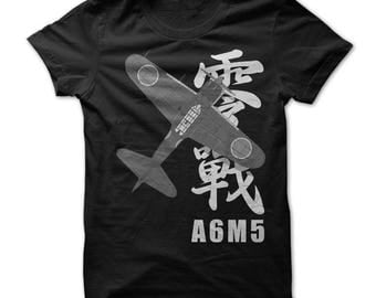 ZERO FIGHTER A6M5 T-shirt.carrier-based fighter aircraft,zero fighter aircraft t-shirts,military aircraft t-shirts,zero aircraft fans gift.