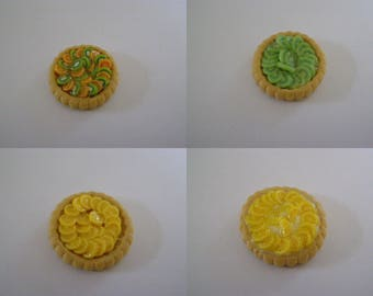 to choose from, miniature fruit, kiwi orange, kiwi, Lemon tart
