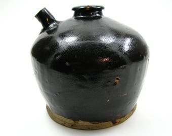 ca1890s-1900s Antique Soya Soy Sauce Pot, Dump Find, Chinese Mining Camp Relic, Ceramic, Old, Vintage