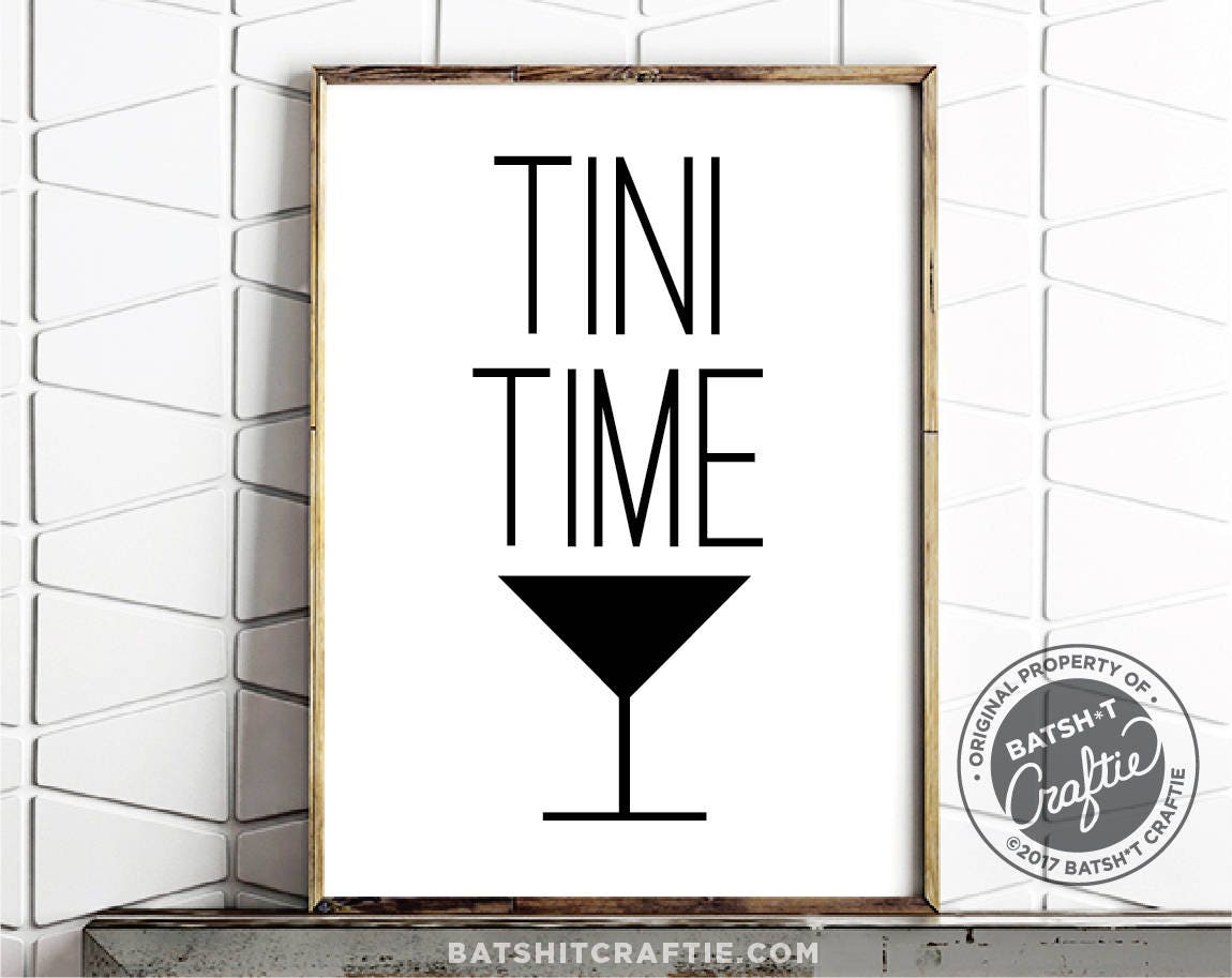 Martini Printable Bar Sign You And Me Alcohol Happy Hour Funny Gin Vodka  Gift Cute Quote
