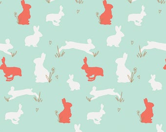 Bunny Binkies Funk Metallic - Anna Elise by Bari J. from Art Gallery Fabrics - Bunny Fabrics - Kids Fabric - Bunnies Fabric - Nursery Fabric
