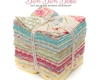 Free Shipping!!! Last One, Bonbon Bebe by Robyn Pandolph for RJR Fabrics , 27 Fat Quarter, Fat Quarter Bundles - Precuts - 100% Cotton