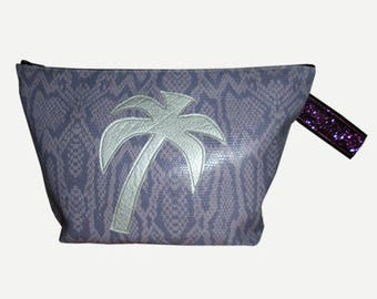 Sale Kit faux leather python and application Palm tree print. * 14th instead of 21 *.