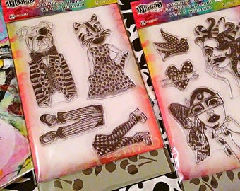 2 pk. Bundle Set by Ranger : Set of 2 Dylusions Stamp/Stencil Sets ~Masquerade~