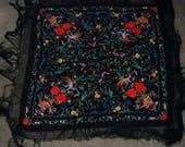 Flamenco dance  silk shawl Antique