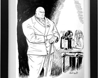 Kingpin from Daredevil Ink Drawing