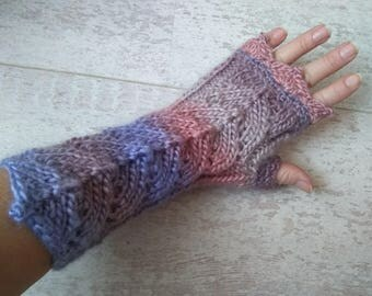 Knit Fingerless Gloves, Valentine's Day Gift, Long Wool Gloves, Gloves Women, Arm Warmers, Mother's Day Gift, Birthday Gift, Arm Warmers
