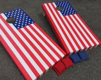 American Flag Cornhole Boards - Patriotic Cornhole, Flag Cornhole Boards, American Cornhole, American Flag Boards, American Flag Toss