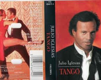 JULIO IGLESIAS - Tango audio cassette tape