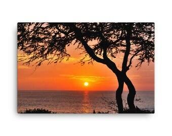 Hawaiian Sunset, Canvas Art, Nature Photography, Manic Exploration Art
