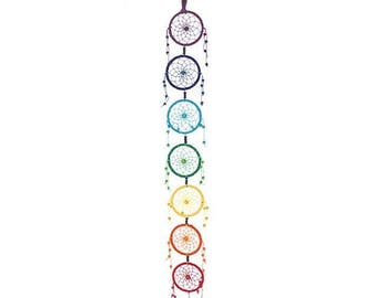 Multi coloured multi tired dreamcatcher dream catcher
