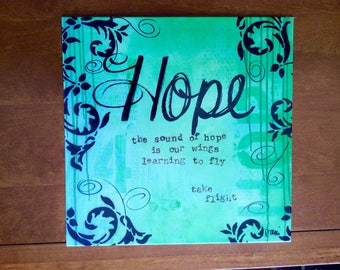 Metal Home Decor Sign | Hope