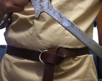 Medieval leather belt