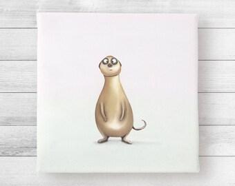 """Art print on canvas - Meerkat """"Alex"""""""