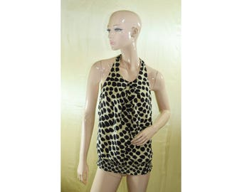 Vintage women top blouse vest 100% silk