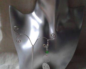 """""""two silver prints"""" earrings"""