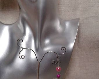 "Earrings ""Silver heart with Angels"""