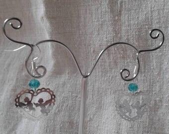 """""""two little angels"""" earrings"""