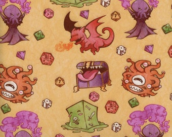 Dungeons and Dragons Single Spandex Fabric