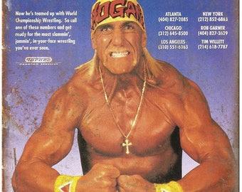 "Hulk Hogan WCW World Championship Wrestling 10"" x 7"" Reproduction Metal Sign X82"