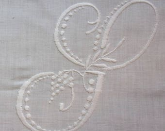 large Monogram embroidered S