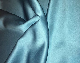 """Vintage - Fame Galaxy Satin """"Persian"""" washable, non-wrinkle from Lanscot Arlen - deep teal"""
