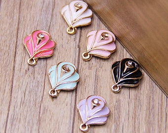 10pcs/lot Rose Flowers Enamel Charms Flower Crystal Charm Jewelry Charms Necklace Pendant Bracelet Earring Making DIY Jewelry Accessories