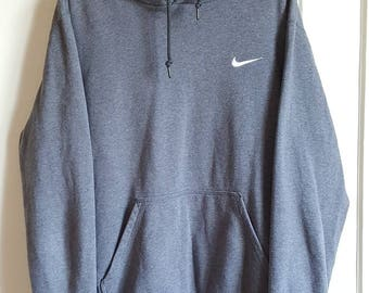Vintage early 90-00 Nike 80% cotton hooded sweatshirt size M.