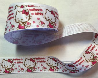 Ribbon grosgrain hello kitty cat dress red white customisation