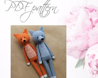Crochet long legg animals, PDF pattern, DIY toys,  Amigurumi Animals