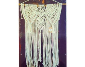 Ecru cotton rope wall hanging