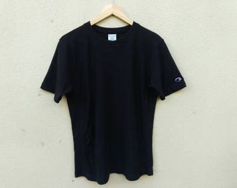 Vintage Champion Reverse Weave t-shirt plain black